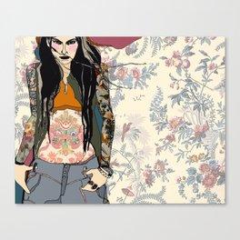 Fierce floral Canvas Print