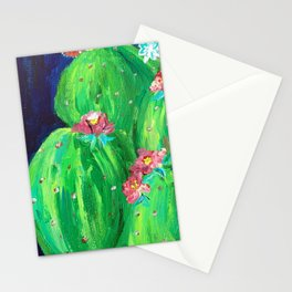 Flowering Prickly Pear Cacus Stationery Cards