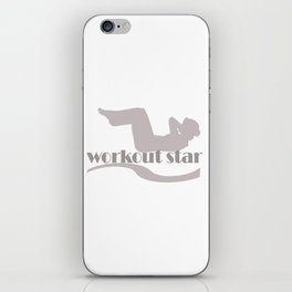 Workout Yoga Gym Star iPhone Skin