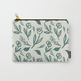 Artistic painted simple simple one colour flowers pattern Carry-All Pouch