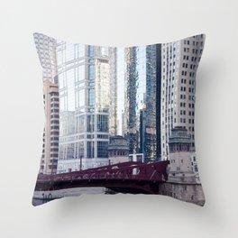 Chicago Downtown Throw Pillow