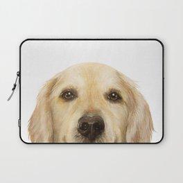 Golden retriever Dog illustration original painting print Laptop Sleeve
