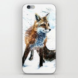 Fox watercolor iPhone Skin