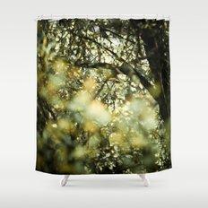 Bokah tree Shower Curtain