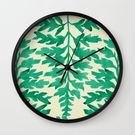 Mint Fern Wall Clock