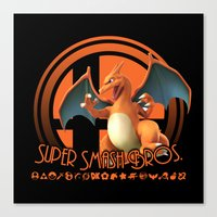 super smash bros Canvas Prints featuring Charizard - Super Smash Bros. by Donkey Inferno
