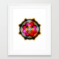 sacred geometry Framed Art Prints featuring Sacred by Sircasm