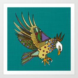jewel eagle turquoise Art Print