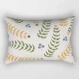 Spring Leaf Pattern Rectangular Pillow