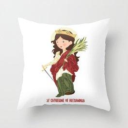 S.t. Catherine of Alexandria Throw Pillow