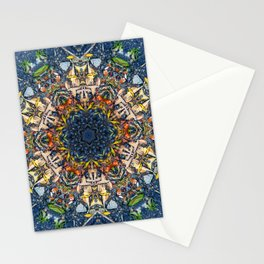 Leaves and River Mandala Stationery Cards