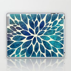 Petal Burst - Turquoise Laptop & iPad Skin