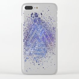 Viking Valknut Space Dust Clear iPhone Case