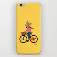 cycling iPhone & iPod Skins featuring Sam's Cycling by BATKEI