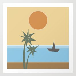 California Vibes Art Print