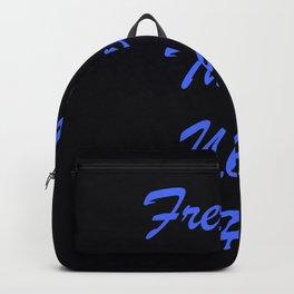 Fresher Than You Ho Periwinkle Blue & Black Backpack
