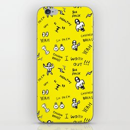 Patterned gym leggings and more, work out pattern iPhone Skin