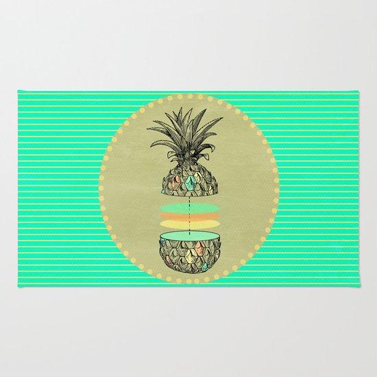 Sliced pineapple Rug
