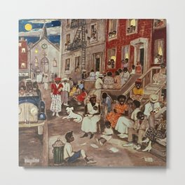 African American Masterpiece 'Midsummer Night in Harlem 1936' by P. Hayden Metal Print