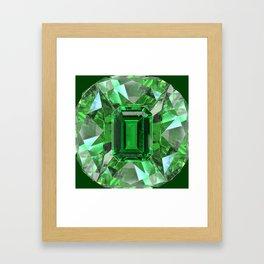 EMERALD GREEN MAY BIRTHSTONES ART Framed Art Print