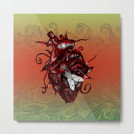 The Heart and the Fly Metal Print