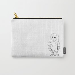 Pen & Ink Barn Owl Carry-All Pouch
