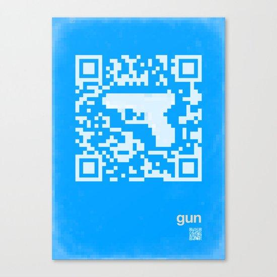 QR gun Canvas Print