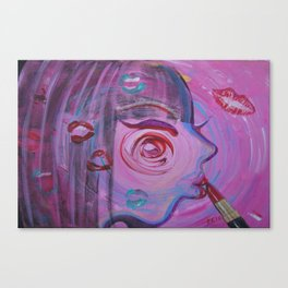 Lipstick Kiss Canvas Print