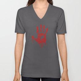 Hand Blood No Violence People Unisex V-Neck