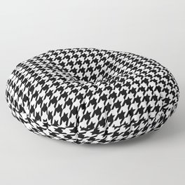 Houndstooth Black and White Floor Pillow