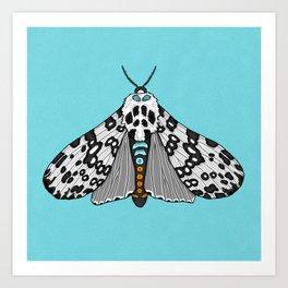 Leopard Moth Art Print