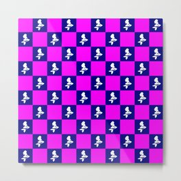 pink purple pattern Metal Print