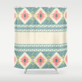 Colorful Geometric Boho Style 2 Shower Curtain