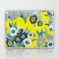 Floral pattern in Neon yellow Laptop & iPad Skin