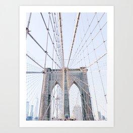 New York Brooklyn Bridge Art Print