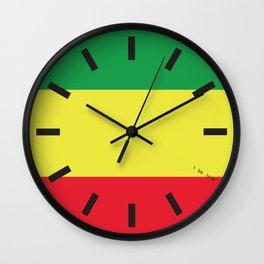 4:20 Clock - Rasta Flag Square Wall Clock