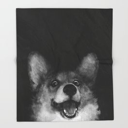 Sausage Fox Throw Blanket