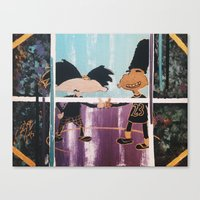 hey arnold Canvas Prints featuring |HEY! Arnold: Dope Streetz| by Cr38bySunBlaze