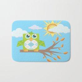 Daytime Owl Bath Mat