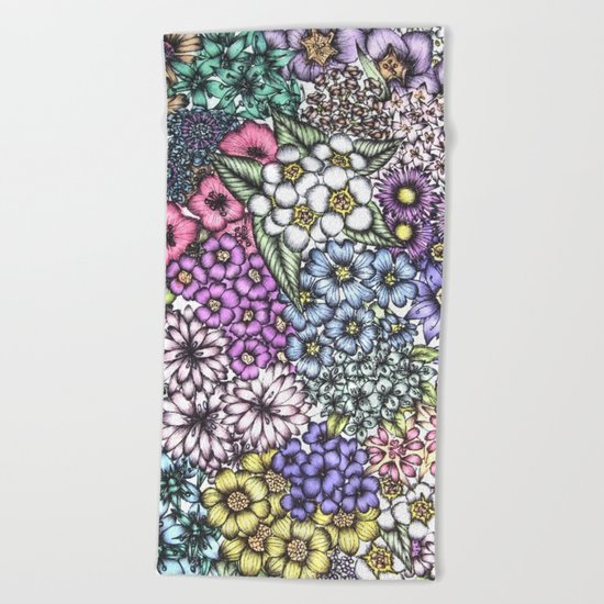 A Bevy of Blossoms Beach Towel