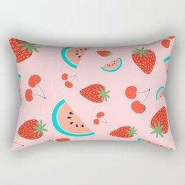 Fruit Salad (Pastel Pink) Rectangular Pillow