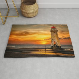 Sunset At The Lighthouse Rug