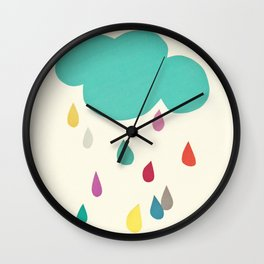 Sunshine and Showers Wall Clock