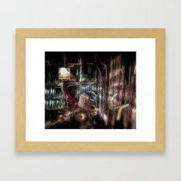 Fireflies In The Tool Shed Framed Art Print