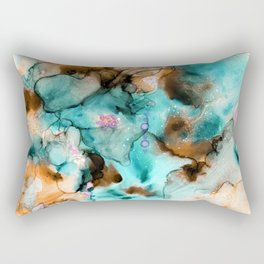 Floating in the Garden Pond Rectangular Pillow