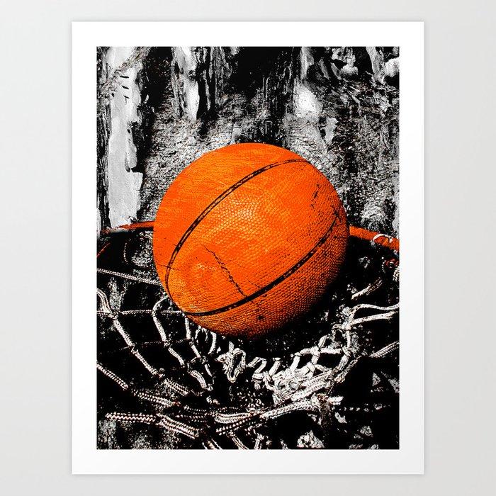 The basketball Kunstdrucke