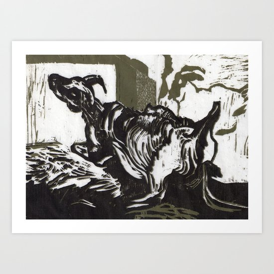 Sheep in Labor, Iceland Art Print