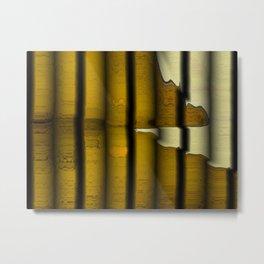 Bark Bars Abstract Metal Print