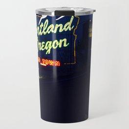 Portland Oregon Old Town Travel Mug