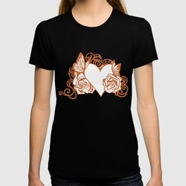 Valentine Heart with Roses T-shirt